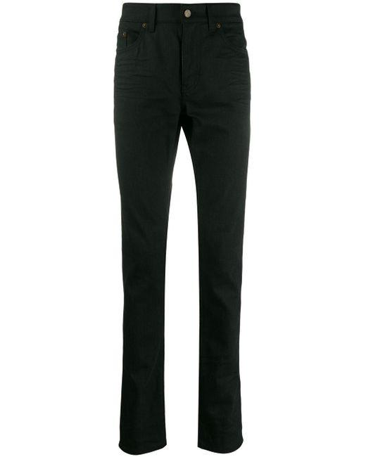 Джинсы Скинни С Эффектом Потертости Saint Laurent для него, цвет: Black