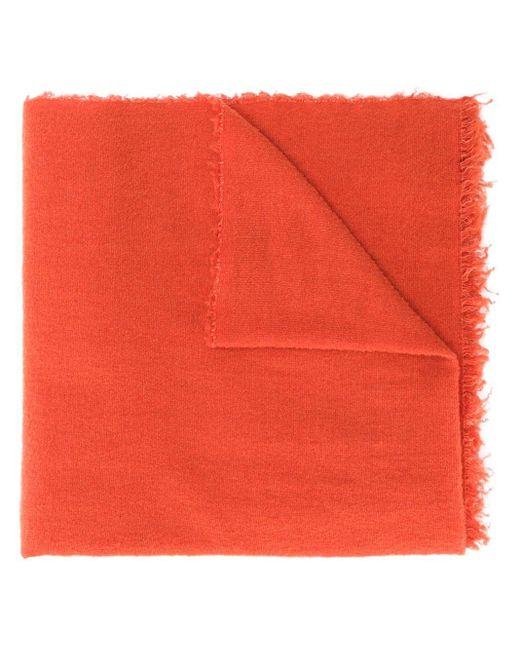 Faliero Sarti テクスチャード スカーフ Red