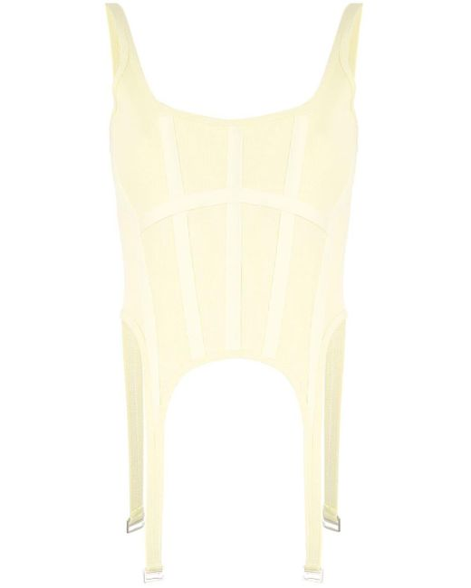 Dion Lee コルセット トップ Yellow