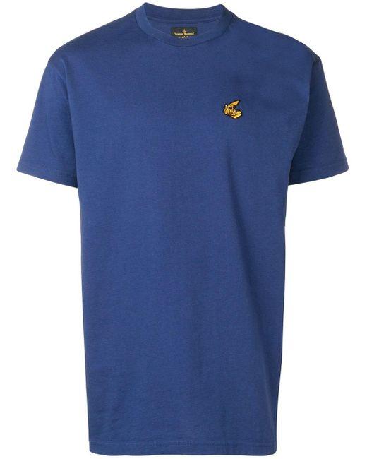 メンズ Vivienne Westwood Anglomania ロゴ Tシャツ Blue