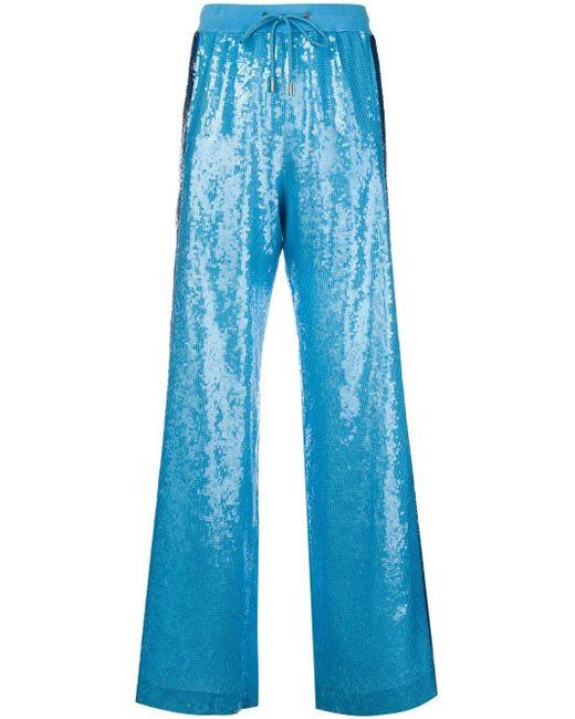 Alberta Ferretti Rainbow Week トラックパンツ Blue
