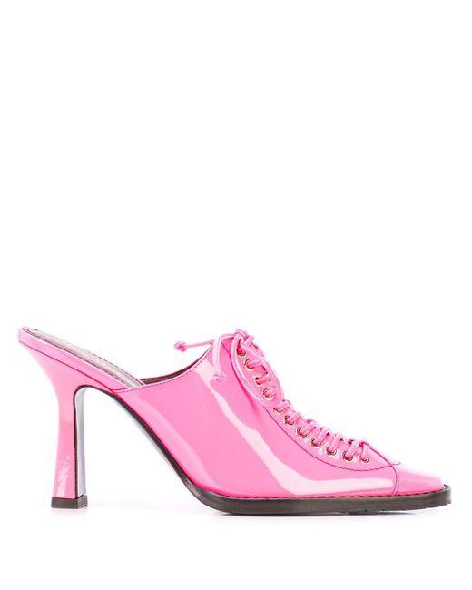 Sies Marjan Stella 90mm エナメルミュール Pink
