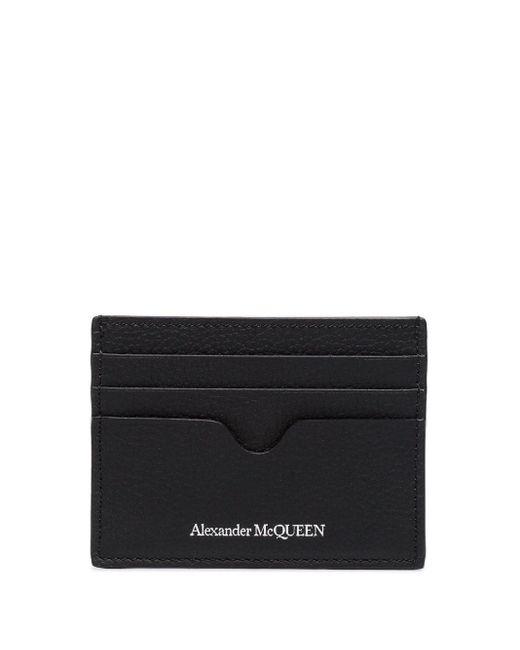メンズ Alexander McQueen レザー カードホルダー Black