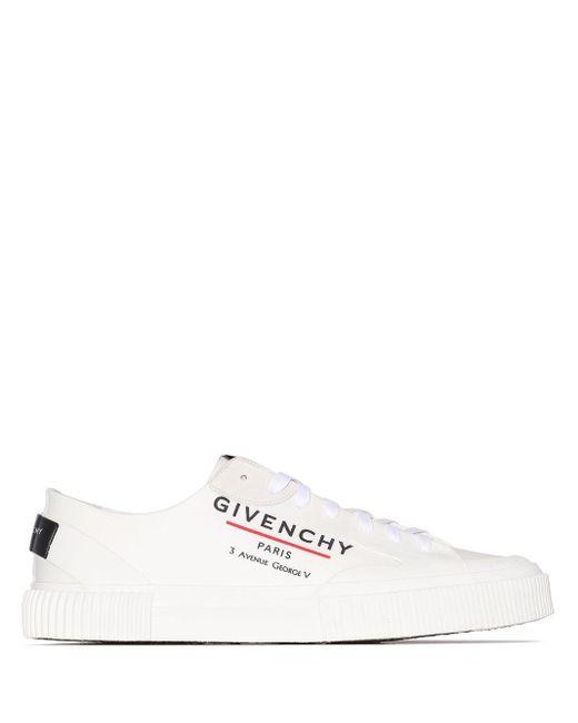 メンズ Givenchy ロゴ スニーカー White