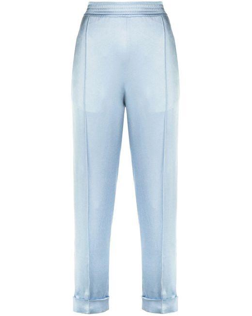 Haider Ackermann Biais Elasticated Trackpants Blue
