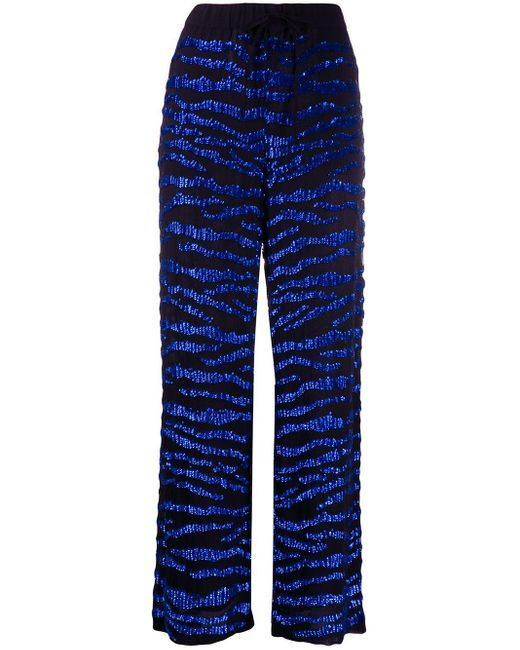 P.A.R.O.S.H. Gebrad パンツ Blue