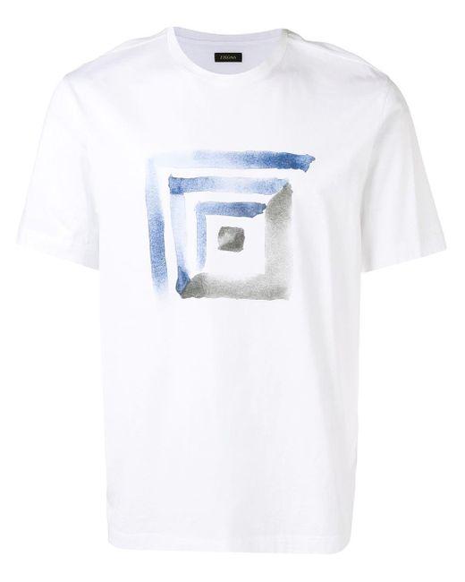 メンズ Z Zegna プリント Tシャツ White