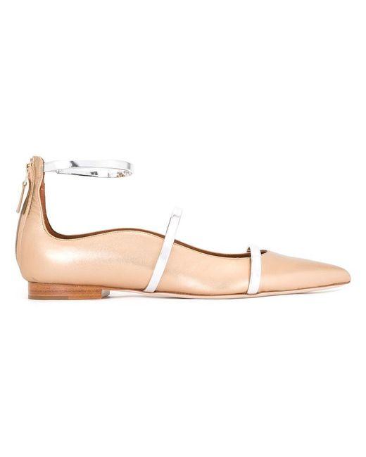 Malone Souliers - Metallic Robyn Flats Ballerinas - Lyst