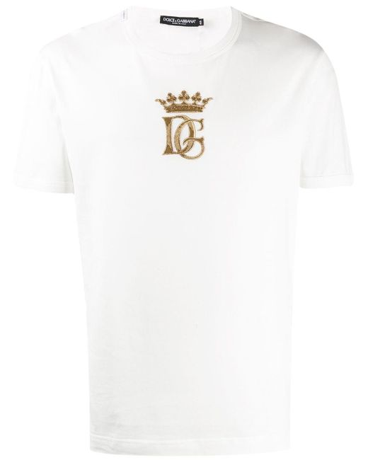 メンズ Dolce & Gabbana ロゴ Tシャツ White
