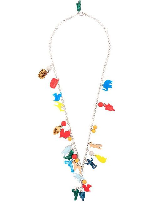 Marni - Multicolor Long Charm Necklace - Lyst