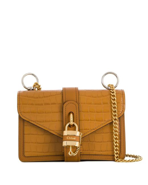 Chloé Aby チェーン ショルダーバッグ Brown