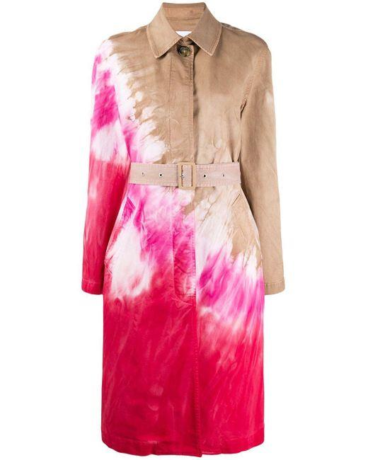 Тренч С Принтом Тай-дай MSGM, цвет: Pink