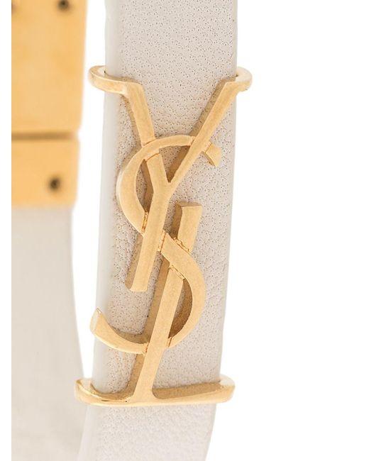 Браслет С Металлическим Логотипом Saint Laurent, цвет: Multicolor