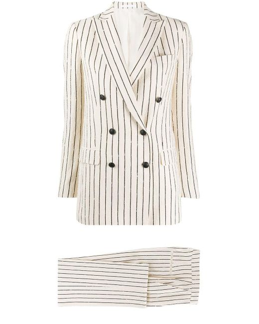 Tagliatore White Striped Two-piece Suit
