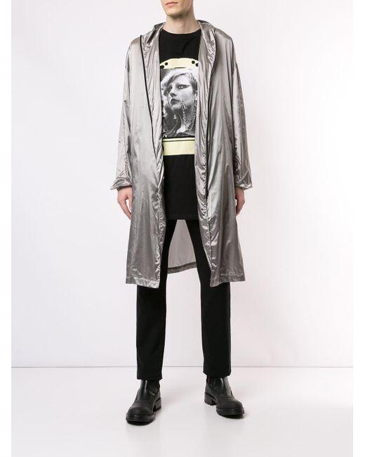Raf Simons Regenmantel im Metallic-Look in Gray für Herren