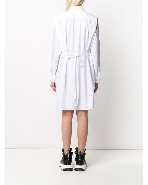 Robe-chemise ceinturée MM6 by Maison Martin Margiela en coloris White
