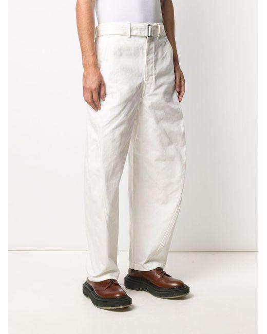 メンズ Lemaire ワイドパンツ White
