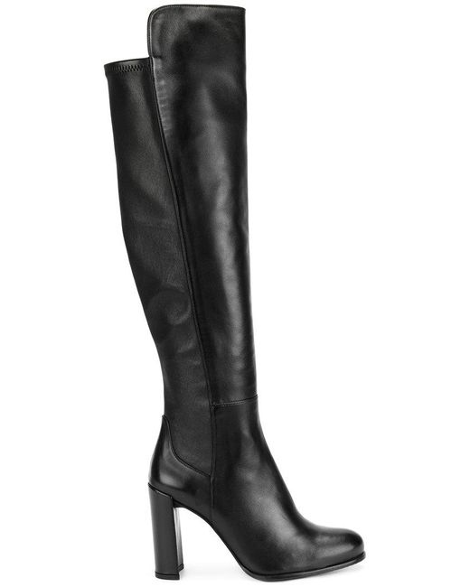 Stuart Weitzman - Black All Jill Over Knee Boots - Lyst