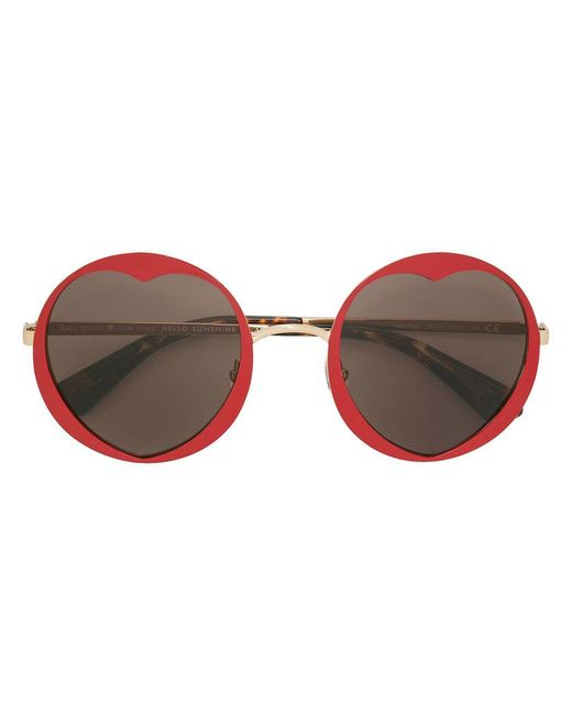 Kate Spade - Red Rosarias Sunglasses - Lyst