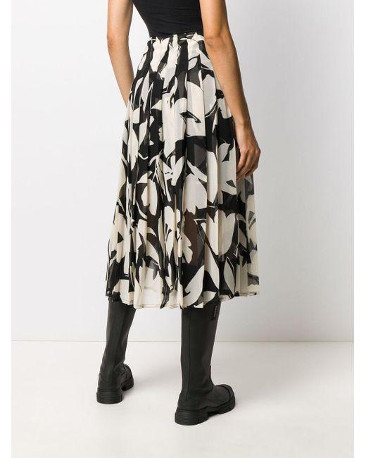 Плиссированная Юбка С Цветочным Принтом Calvin Klein, цвет: Black