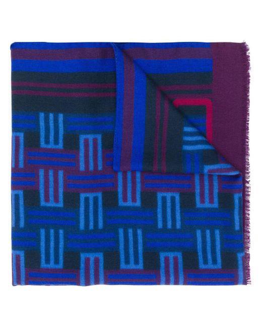 Etro ロゴ スカーフ Blue