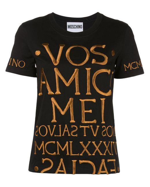 Moschino エンブロイダリー Tシャツ Black