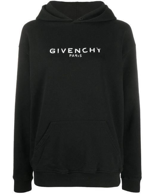 Givenchy ロゴ パーカー Black