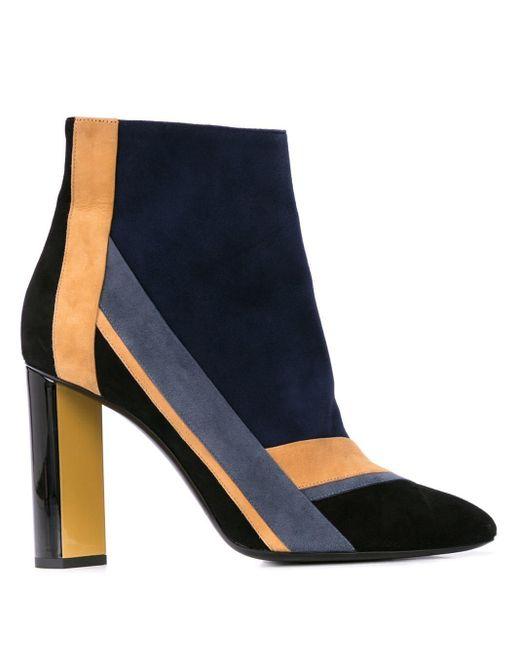Pierre Hardy Blue Alpha Plus Ankle Boots
