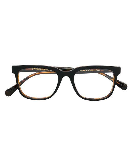 Retrosuperfuture Brille in Schildpattoptik in Black für Herren