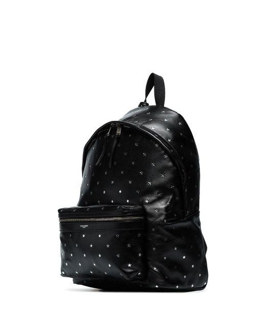Рюкзак С Принтом Saint Laurent для него, цвет: Black