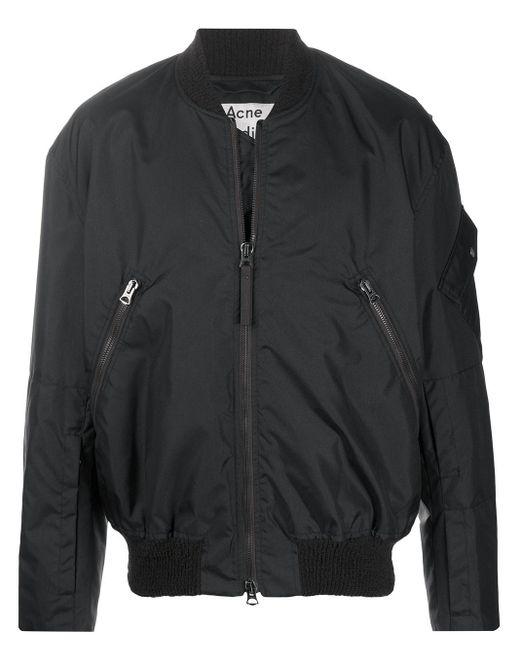 メンズ Acne ボンバージャケット Black