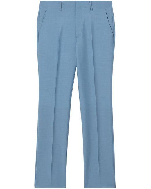 メンズ Burberry テーラードパンツ Blue
