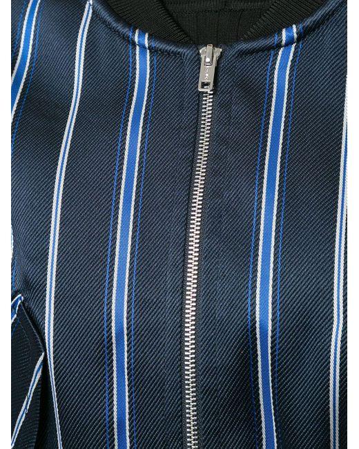 Куртка-бомбер На Молнии В Полоску 3.1 Phillip Lim, цвет: Blue