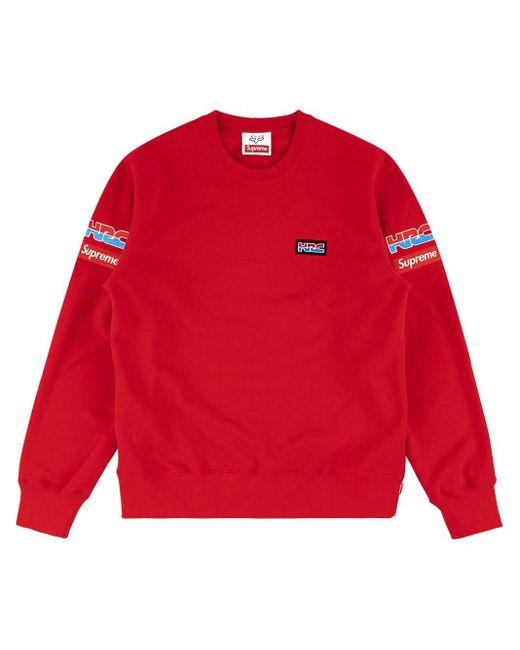 メンズ Supreme Honda Fox Racing スウェットシャツ Red