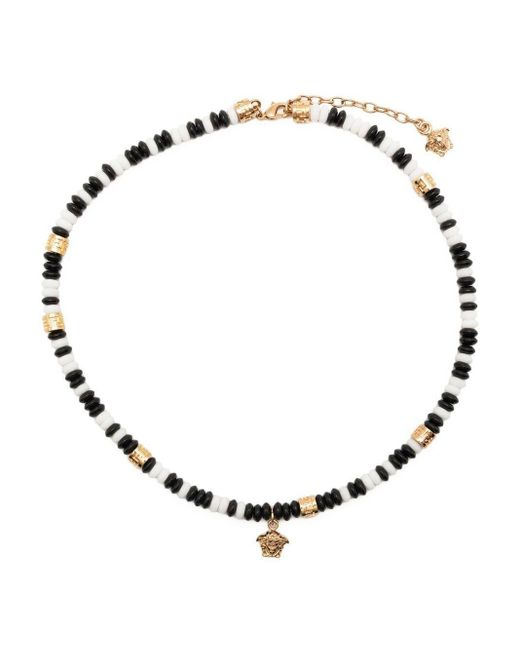 Collier Medusa en perles Versace pour homme en coloris White