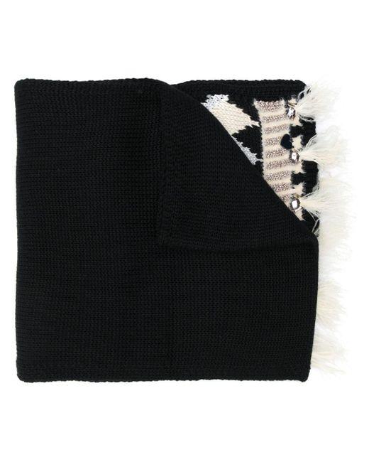 Twin Set フェアアイル スカーフ Black
