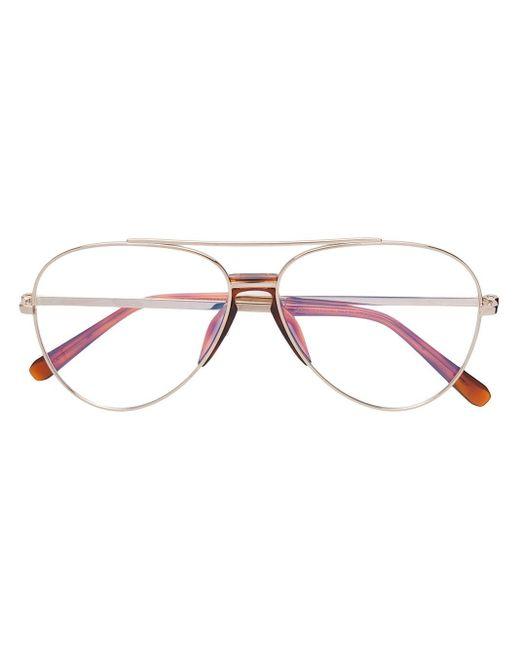 メンズ Brioni アビエーター眼鏡フレーム Metallic