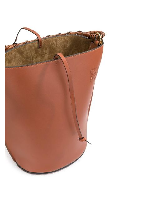 Сумка-ведро С Тисненым Логотипом Loewe, цвет: Brown
