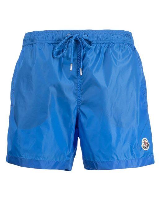 メンズ Moncler ロゴ トランクス水着 Blue