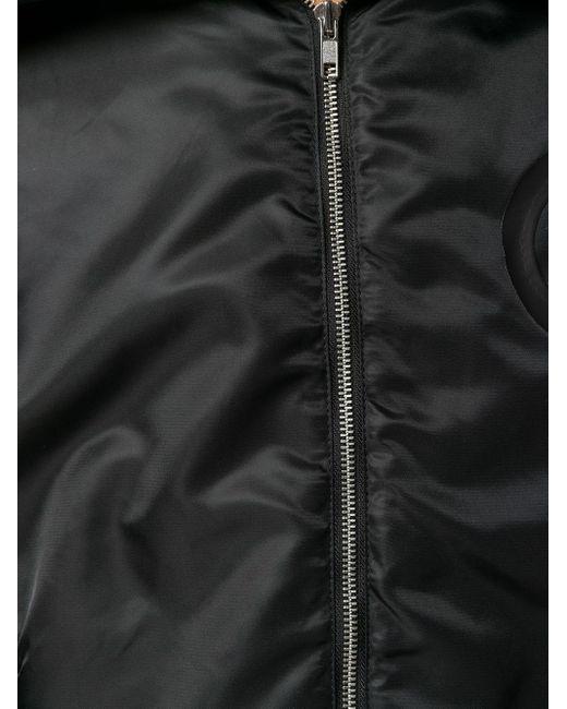 メンズ Random Identities エコファーカラー ボンバージャケット Black