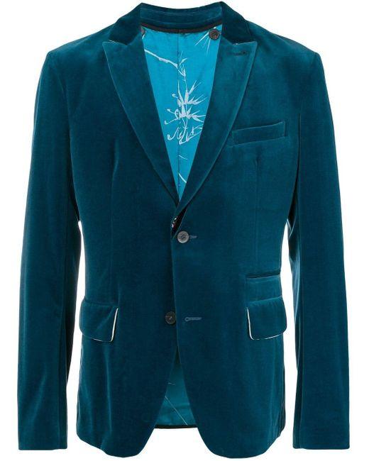 メンズ Haider Ackermann ベルベット ジャケット Blue