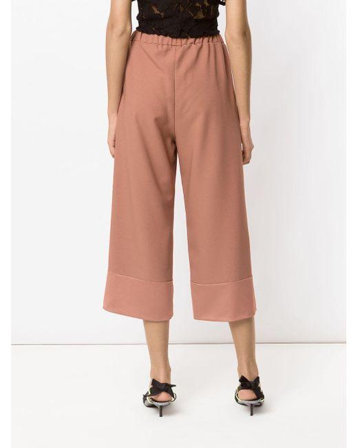 Juanita panelled pantacourt trousers Olympiah en coloris Pink