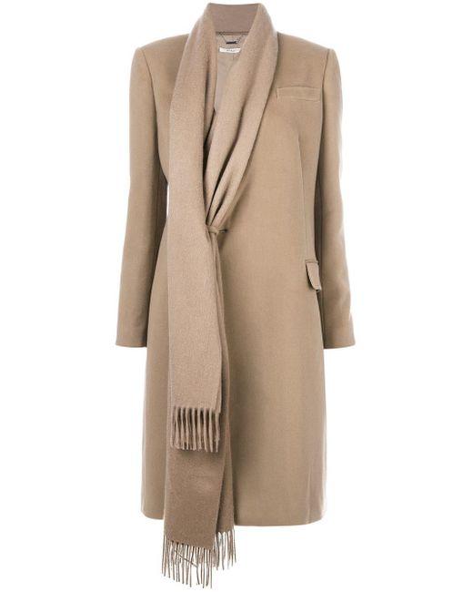 Givenchy Asymmetrische Sjaalbekleding in het Natural
