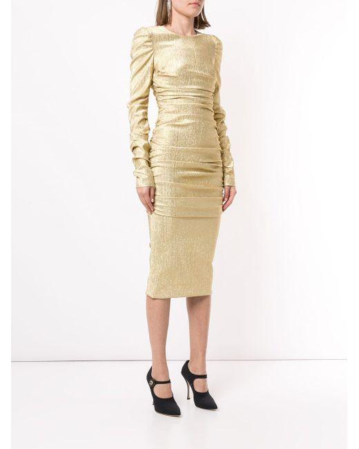 Dolce & Gabbana ラメ ドレープ ドレス Metallic
