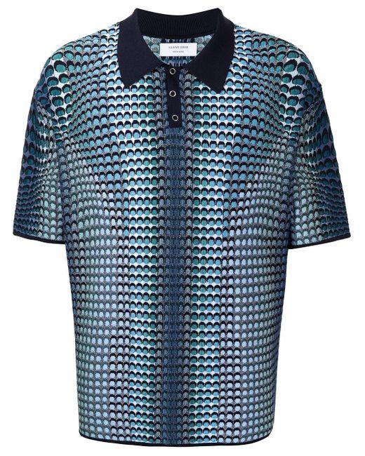 メンズ MARINE SERRE ロゴ ポロシャツ Blue