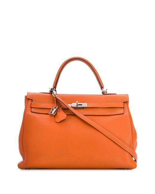 Hermès 2007 プレオウンド ケリー ハンドバッグ Orange