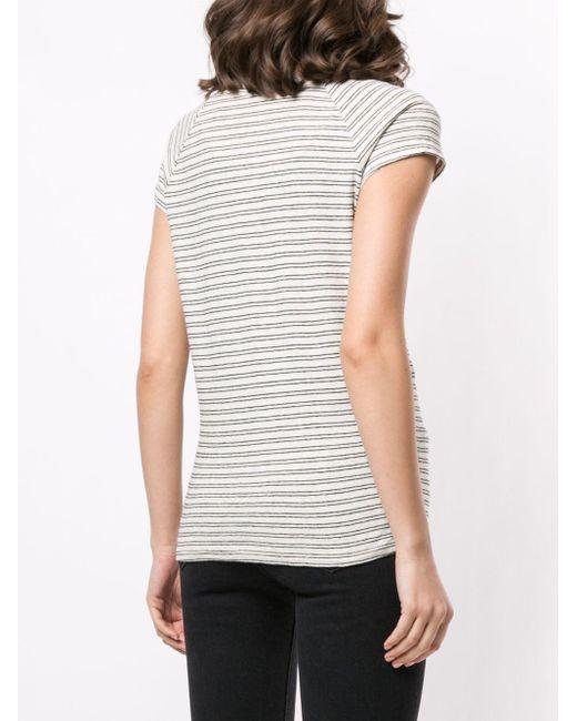 Nili Lotan ストライプ Tシャツ White