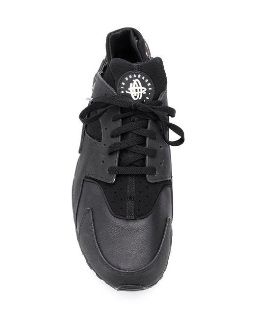 Air Huarache Run, Scarpe da Ginnastica Basse Donna di Nike in Black