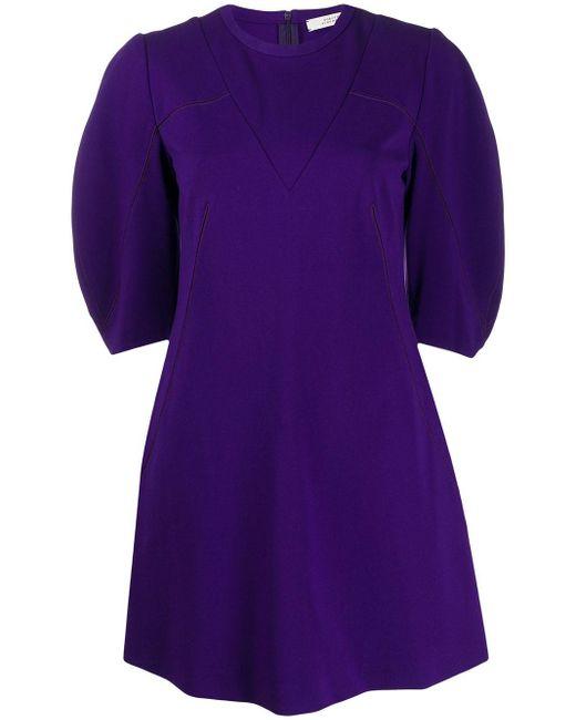 Dorothee Schumacher パフスリーブ フレアドレス Purple
