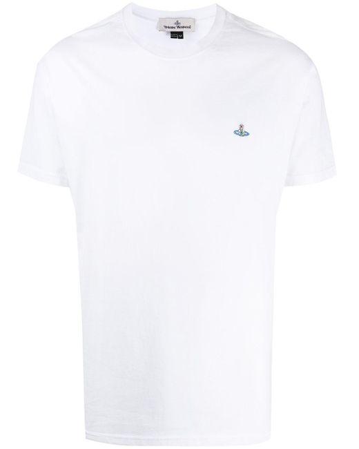 メンズ Vivienne Westwood ラウンドネック Tシャツ White